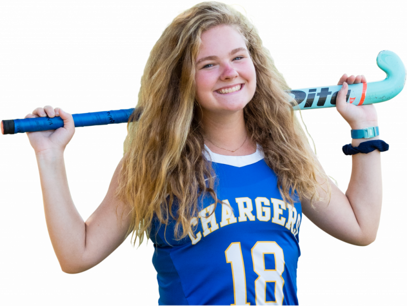 Laura Cunningham, field hockey team athlete at Cary Academy