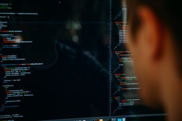 stock image of computer code